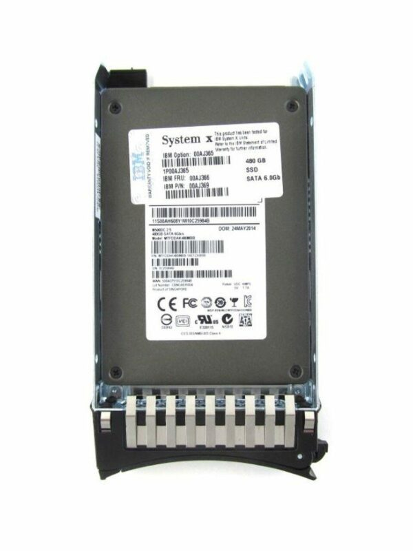 IBM 00AJ365 480-GB SATA 2.5 MLC HS SSD Disk - Warranty and 10 days for delivery