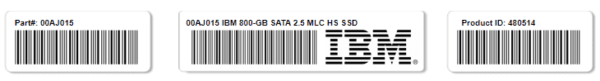 IBM 00AJ015 800-GB SATA 2.5 MLC HS SSD Disk - Warranty and 10 days for delivery