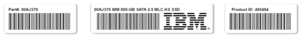 IBM 00AJ370 800-GB SATA 2.5 MLC HS SSD Disk - Warranty and 10 days for delivery
